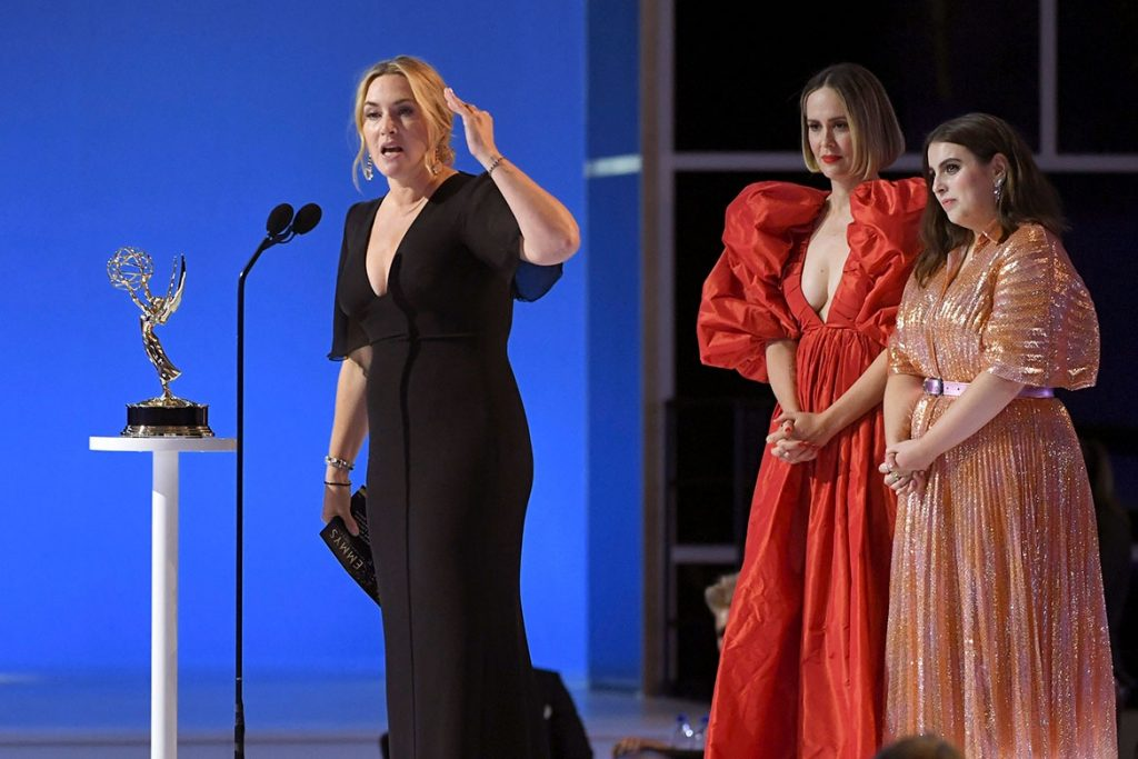 Kate winslet giving speech at 73rd Emmy awards