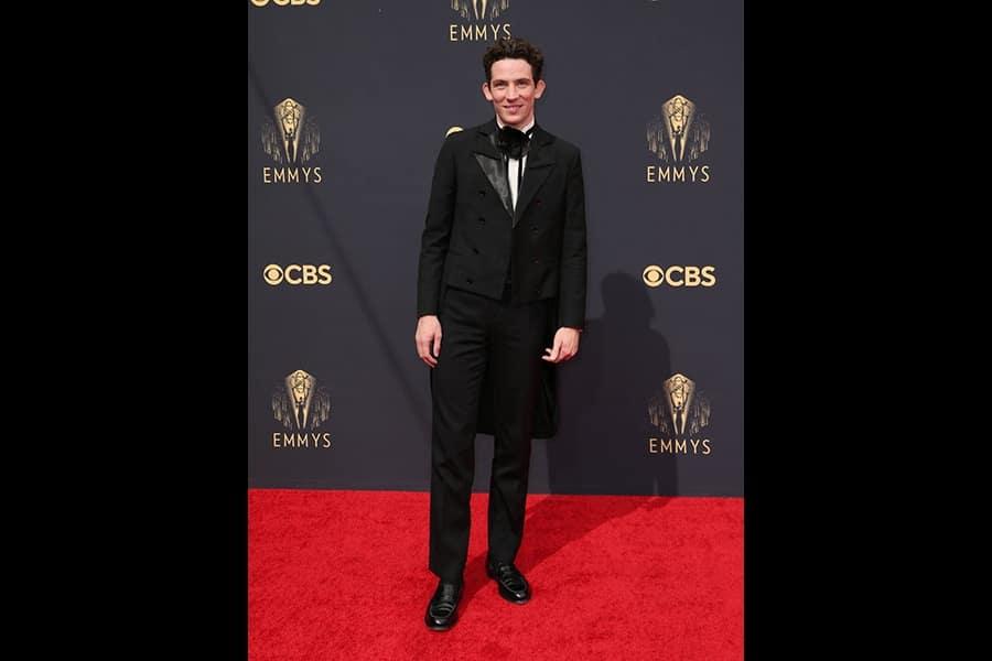 Josh O'Connor at 73rd Emmy Award red Carpet 2021
