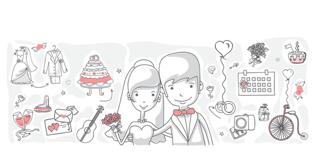 Wedding planning vector image